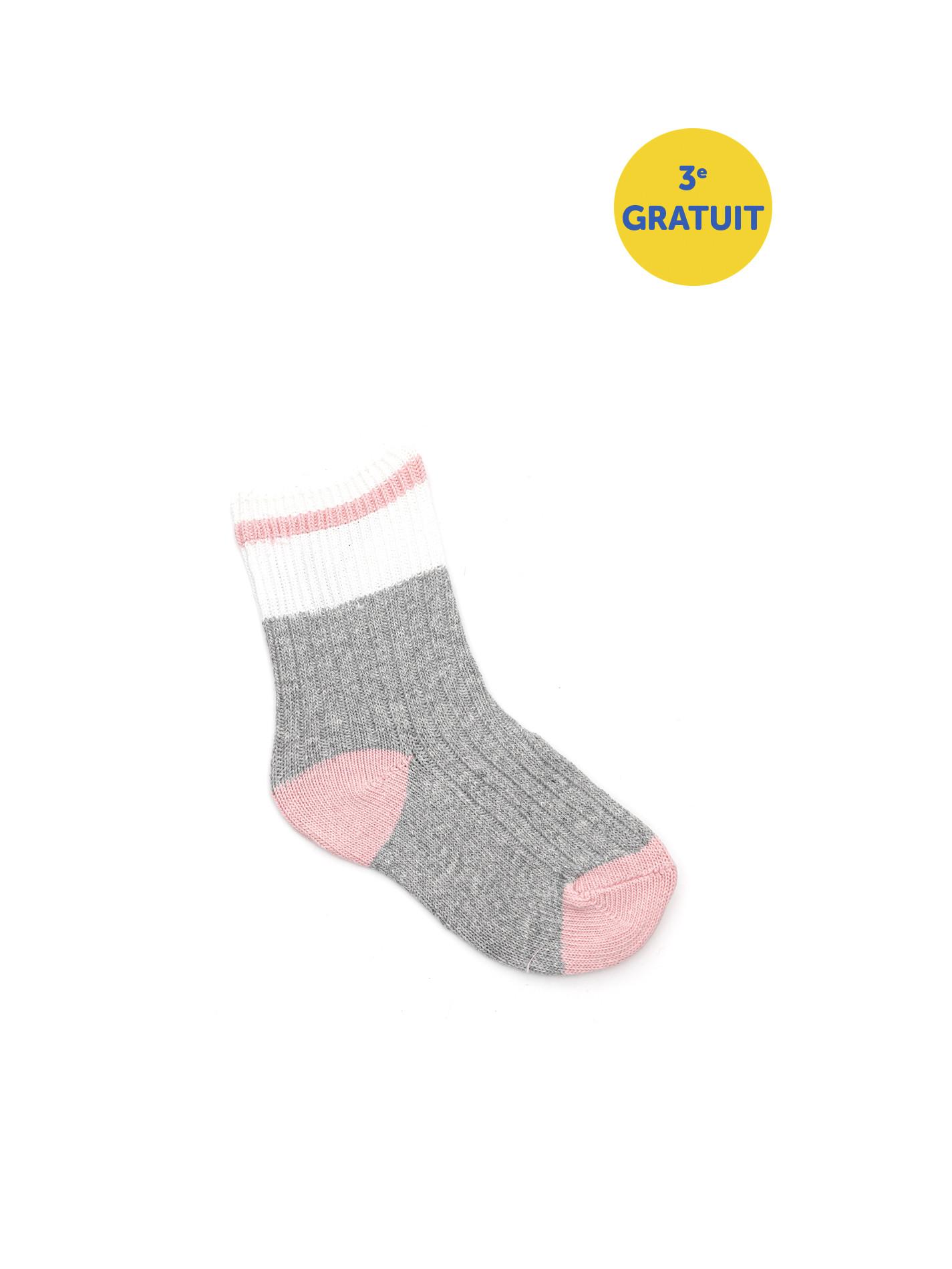 Bas en tricot - Rose pale